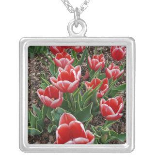 Red & White Tulips Custom Jewelry