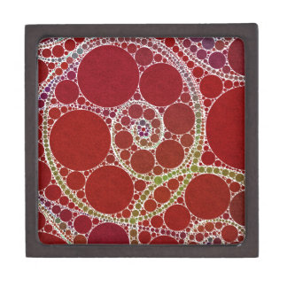 Red White Twirls Abstract Gift Box
