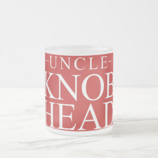 Red White Uncle Knob Head - Simple Christmas Gift Frosted Glass Coffee Mug