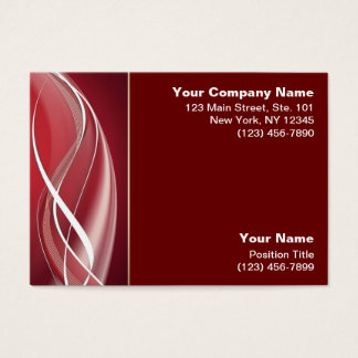 Red White Wave Business Card