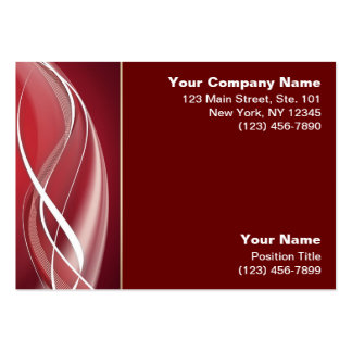Red White Wave Large Business Cards (Pack Of 100)