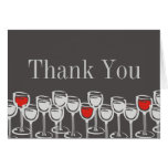red white wine glasses thank you note card invi...