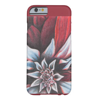 Red & White Winter Flower Barely There iPhone 6 Case