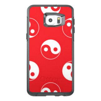 Red & White Yin Yang Pattern Design OtterBox Samsung Galaxy S6 Edge Plus Case