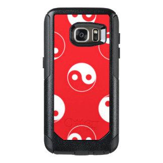 Red & White Yin Yang Pattern Design OtterBox Samsung Galaxy S7 Case