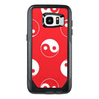 Red & White Yin Yang Pattern Design OtterBox Samsung Galaxy S7 Edge Case