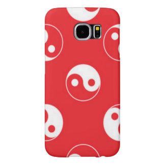 Red & White Yin Yang Pattern Design Samsung Galaxy S6 Case