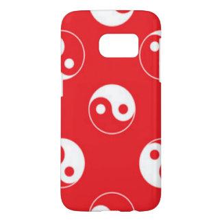 Red & White Yin Yang Pattern Design Samsung Galaxy S7 Case