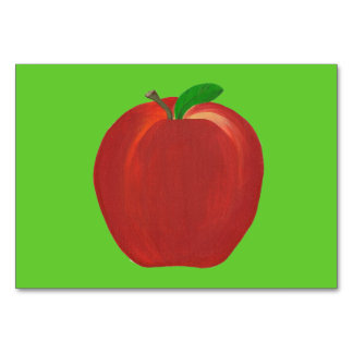 Red whole apple custom flashcards table cards