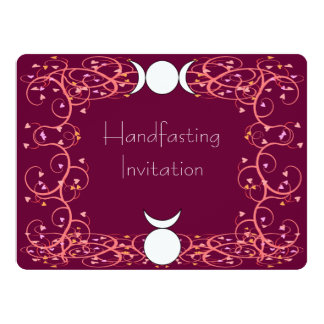 Red Wiccan Handfasting Invitation - God & Goddess