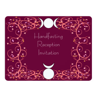 Red Wiccan Reception Invitation - God & Goddess