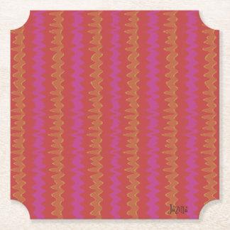 Red Wiggler Paper Coaster