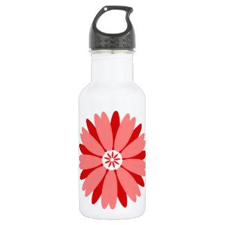 Red Wild Flower 18oz Water Bottle