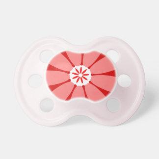Red Wild Flower BooginHead Pacifier