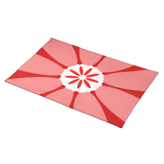 Red Wild Flower Cloth Placemat