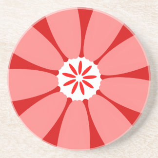 Red Wild Flower Coaster