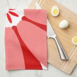 Red Wild Flower Kitchen Towels