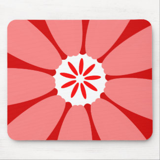 Red Wild Flower Mouse Pad