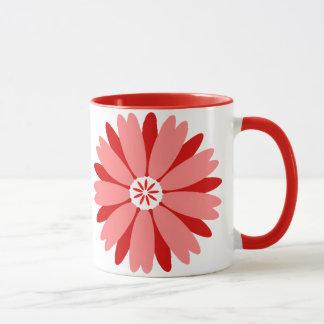 Red Wild Flower Mug