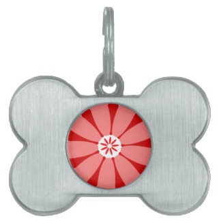 Red Wild Flower Pet ID Tags