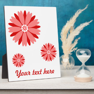 Red Wild Flower Photo Plaques