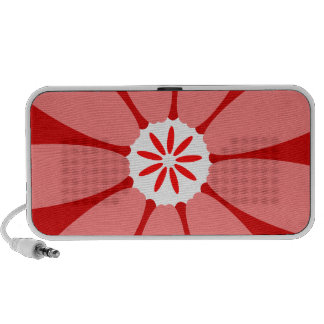 Red Wild Flower Portable Speaker