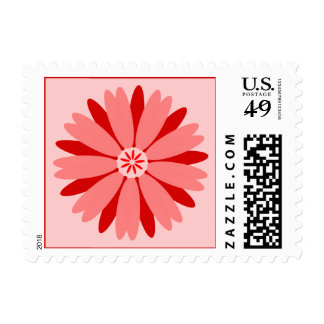 Red Wild Flower Postage Stamps