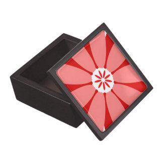 Red Wild Flower Premium Jewelry Boxes