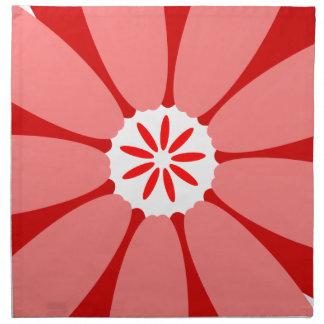 Red Wild Flower Printed Napkins