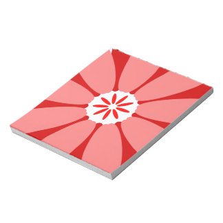 Red Wild Flower Scratch Pad