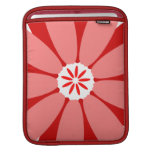 Red Wild Flower Sleeves For iPads