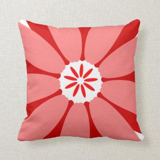 Red Wild Flower Throw Pillow