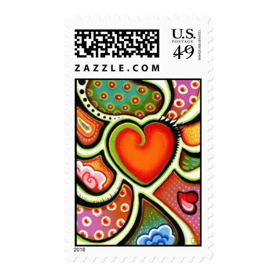 Red Wild Heart Stamp