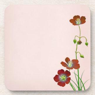 Red Wildflower Coaster