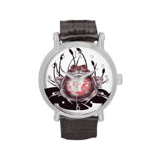 'Red Willow Bull Frog' Watch