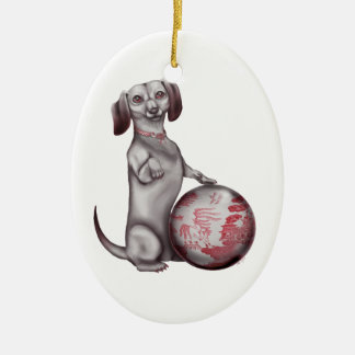Red Willow Dachshund Christmas Tree Ornaments