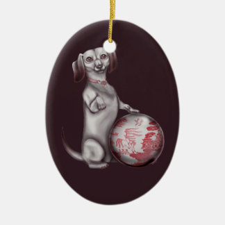 Red Willow Dachshund Ornament