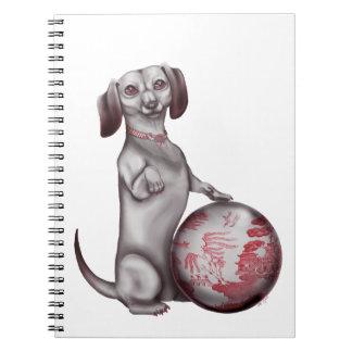 Red Willow Dachshund Spiral Note Book