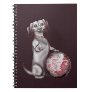 Red Willow Dachshund Spiral Notebooks