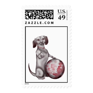 Red Willow Dachshund Stamps