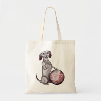 Red Willow Dachshund Tote Canvas Bag