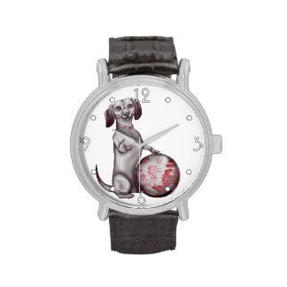 Red Willow Dachshund Wristwatch