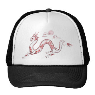Red Willow Dragon with White BG Trucker Hat