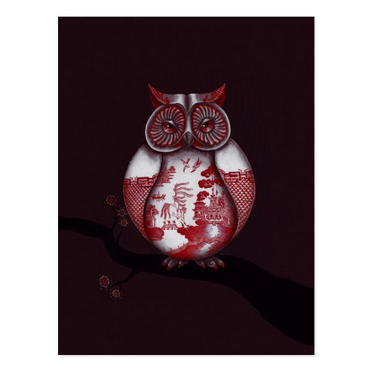 Red Willow Owl Postcard