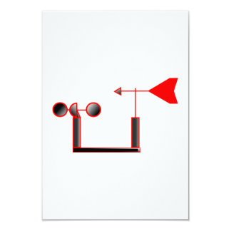 Red Wind Speed and Weather Vane Card