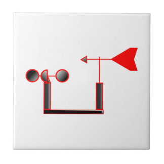 Red Wind Speed and Weather Vane Tiles