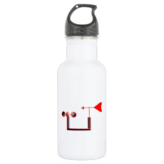 Red Wind Speed and Weather Vane Water Bottle