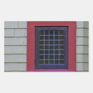 Red Window Rectangular Sticker