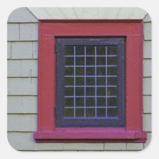 Red Window Square Sticker