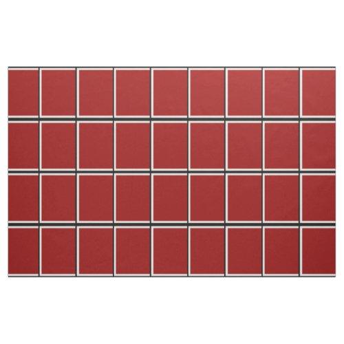 Red Windowpane Check Fabric